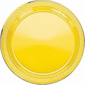 Imagen de Platos amarillos plásticos grandes (10)