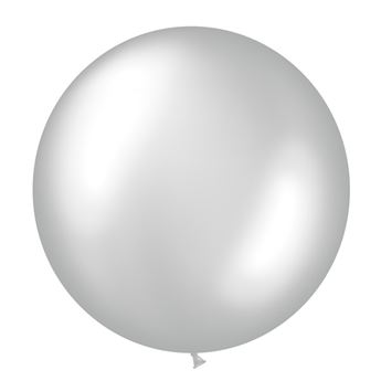 Picture of Globo látex plata 90cm