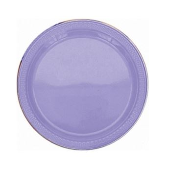 Imagens de Platos lavanda plásticos pequeños (10)