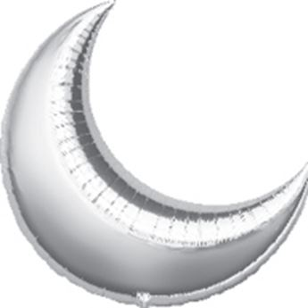 Imagen de Globo luna plata 43cm