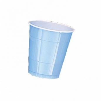 Imagen de Vasos azul claro plásticos (10)