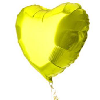 Picture of Globo corazón amarillo