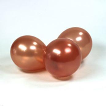 Imagen de Globos terracota perlados pequeños (100)