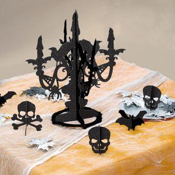 Imagens de Set decoración candelabro negro (6)