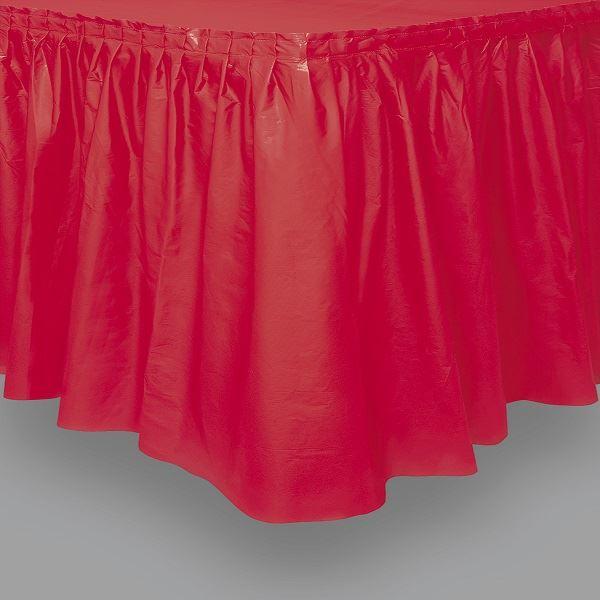 Imagen de Falda de mesa roja