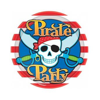 Imagen de Platos Fiesta Piratas pequeños (8)