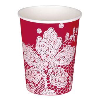 Imagen de Vasos rojos encaje (8)