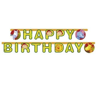 Picture of Banner Happy Birthday animales selva