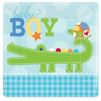Imagen de Platos bebé azul pequeños (8)
