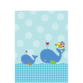 Imagen de Mantel bebé azul
