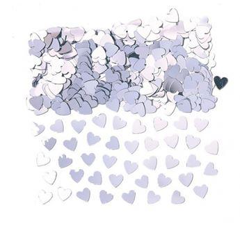 Imagen de Confeti corazones plata (14gr)