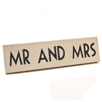 Imagen de Cartel Mr and Mrs madera