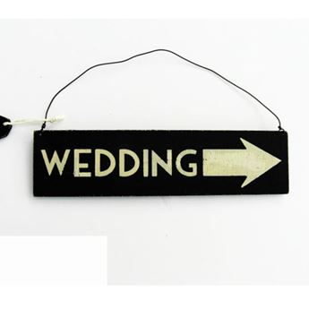 Imagen de Cartel flecha wedding  madera