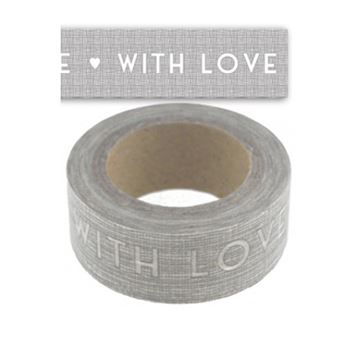 Picture of Washi tape with love gris