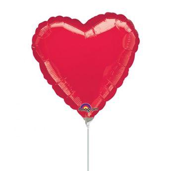 Imagen de Globo corazón rojo palito