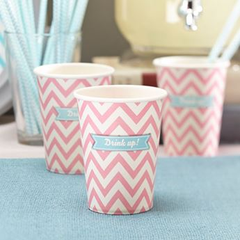 Picture of Vasos chevron rosa (8)