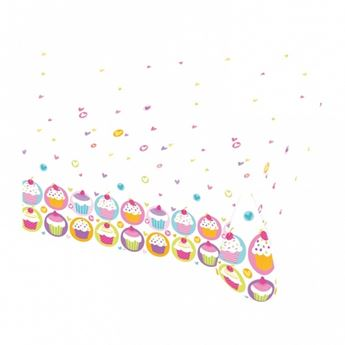 Picture of Mantel cupcake colores