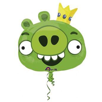 Imagen de Globo Angry Birds verde