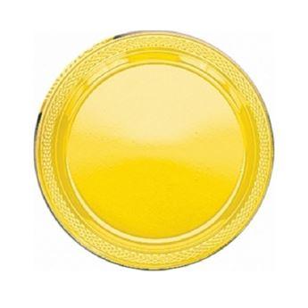 Imagen de Platos amarillos plásticos pequeños (10)