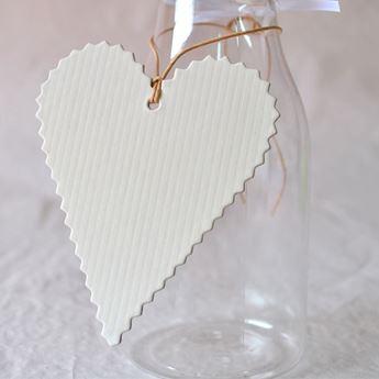 Imagens de Etiqueta corazón marfil