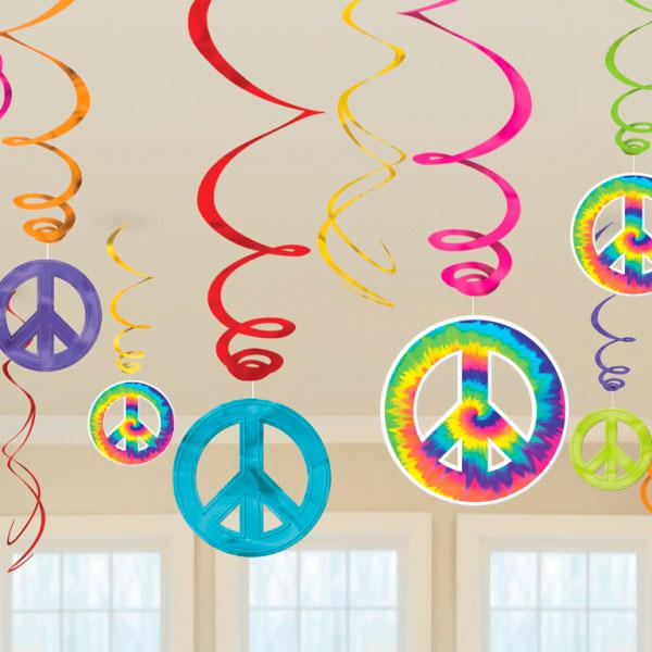 Comprar decorados espirales hippie 12 online al mejor - Guirnaldas para fiestas infantiles ...
