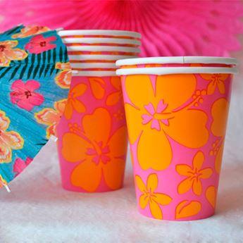 Picture of Vasos fiesta verano rosa (8)