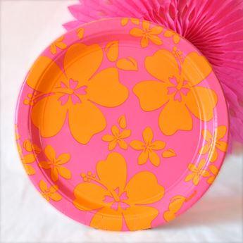 Picture of Platos fiesta verano rosa grandes (8)