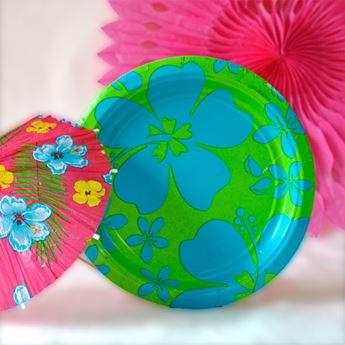 Imagens de Platos fiesta verano azul pequeños (8)