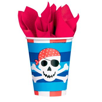 Imagen de Vasos piratas tesoro (8)