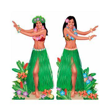 Imagens de Decorados pared bailarinas hawaianas