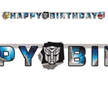 Imagen de Banner Happy Birthday Transformers