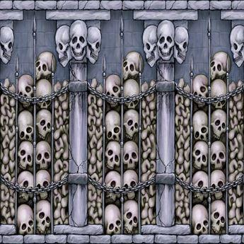 Picture of Fondo pared catacumba esqueletos