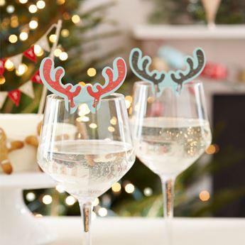 Imagen de Decoraciones vasos Navidad Vintage