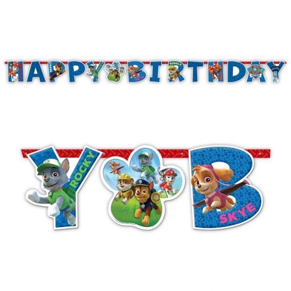Imagen de Banner Happy Birthday patrulla canina