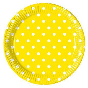 Imagen de Platos amarillos lunares (8)