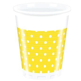 Picture of Vasos amarillos lunares (8)