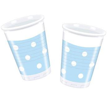 Picture of Vasos azul pastel lunares (8)
