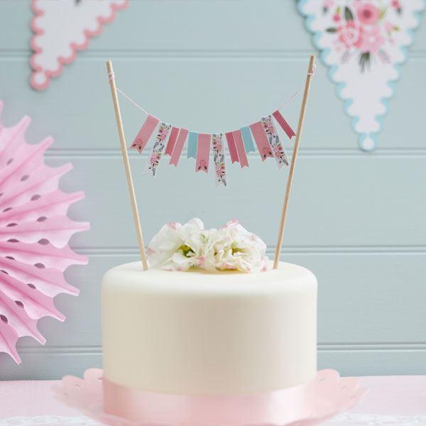 imagen de topper tarta primavera floral