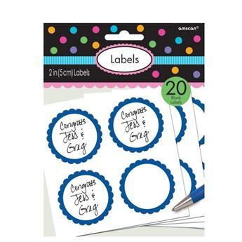 Imagen de Etiquetas adhesivas azules (20)
