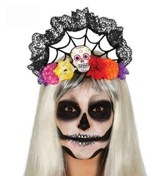 Imagen de Diadema Día de los Muertos flores