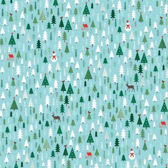 Picture of Papel regalo bosque Navidad