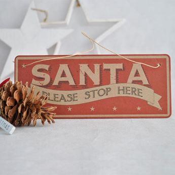 Imagen de Adorno Navidad Santa please stop here