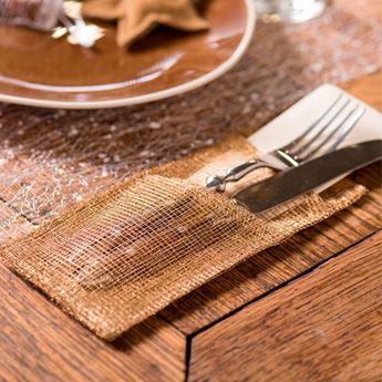 Imagens de Bolsas para cubiertos y servilletas oro (4)