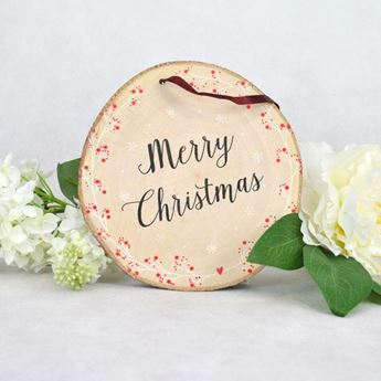 Imagen de Rodaja madera Merry Christmas