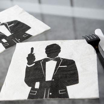 Imagen de Servilletas agente secreto (20)