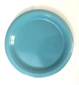 Imagens de Platos azul claro especial plásticos pequeños (10)