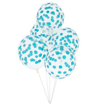 Picture of Globos confeti azul (5)