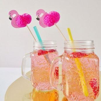 Imagen de Pinchos flamenco rosa nido de abeja (12)