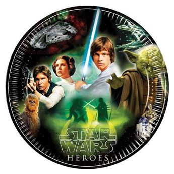 Picture of Platos Star Wars héroes y villanos grandes (8)