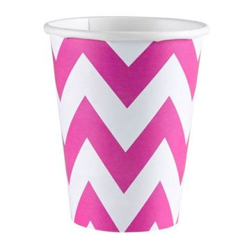 Picture of Vasos chevron fucsia (8)